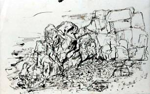 Beach Pen and ink