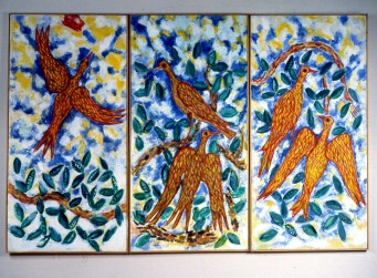 Birds Triptych- Oil 1970s