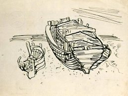 old boats drawing