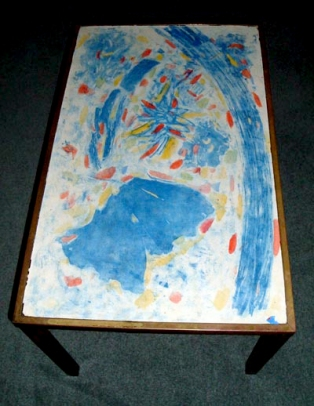 Colour laminate table print