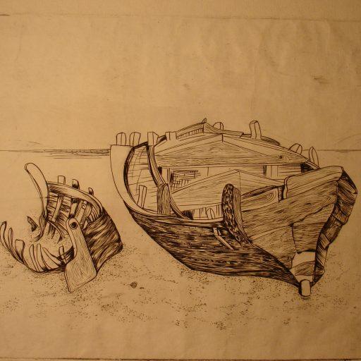 Graveyard of Ships Engraving