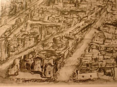 Hamburg ruins Imperial War Museum Watercolour 1946