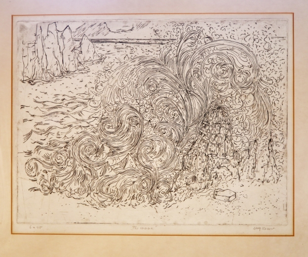 The big wave-engraving