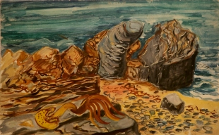 Beach with Kelp 1948