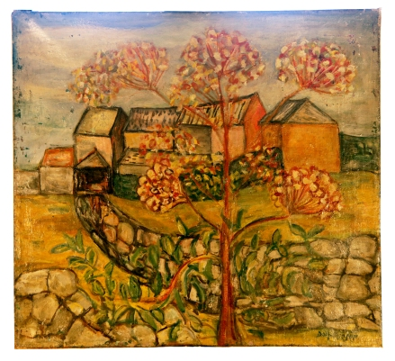 Farm with cow parsley 1948