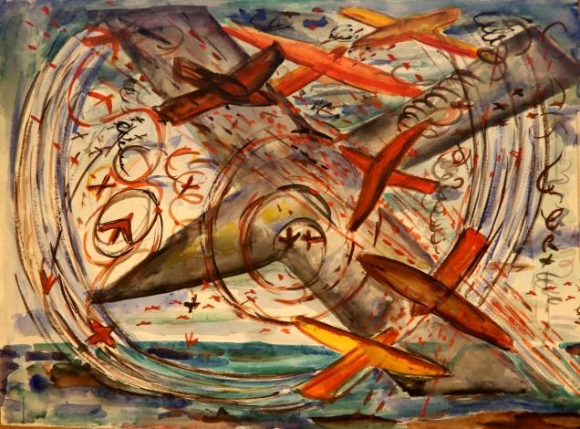 Warplanes Watercolour 1944