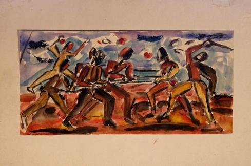 Battle watercolour