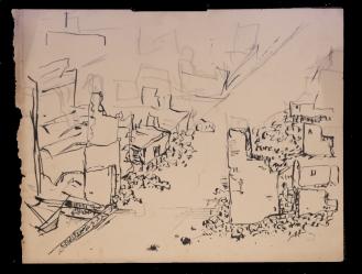 Hamburg ruins drawing 1946