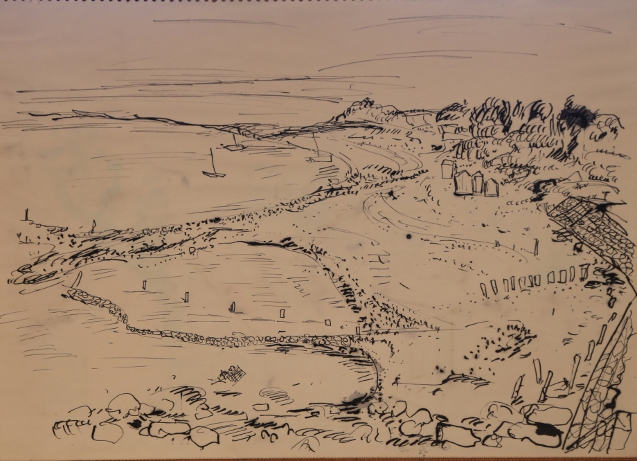 Landscape pen and ink