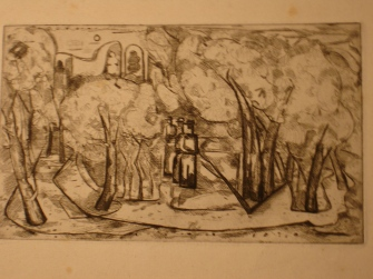 Monks etching