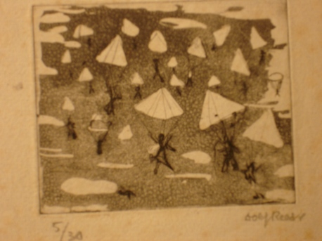 Paratroops etching 1943