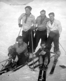 Skiing with Jaoul family 1930s