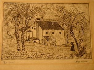 Spanish farm engraving