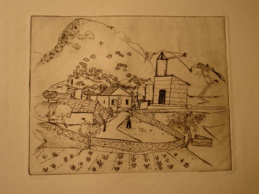 Spanish landscape engraving