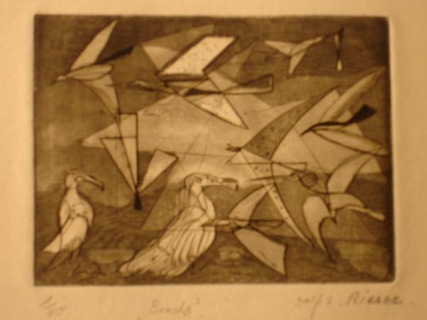 Birds Etching 1949