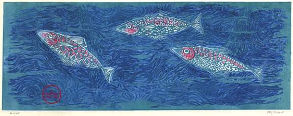 Fishes- colour etching